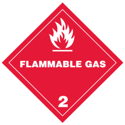 Flammable Gas Hazmat labels