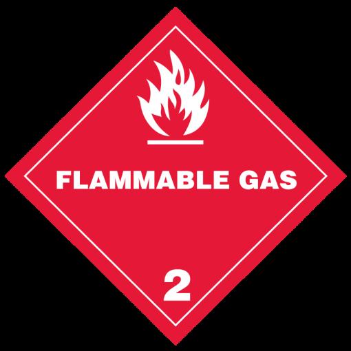 Flammable Gas Hazmat labels