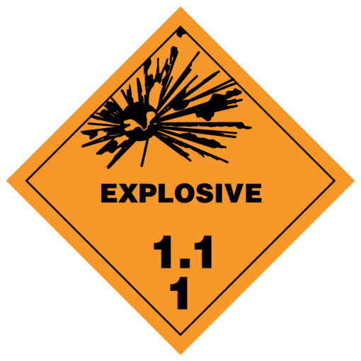 Explosive hazmat labels