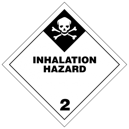 Inhalation Hazard Hazmat labels