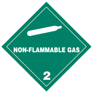 Non-Flammable Gas hazmat labels