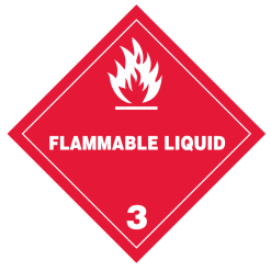 Flammable Liquid Hazmat Labels