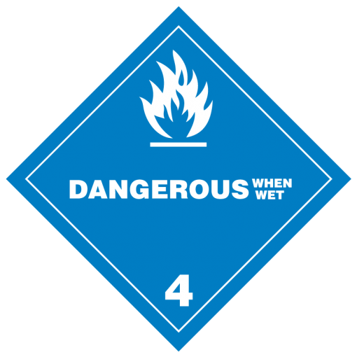 Dangerous When Wet Hazmat Labels