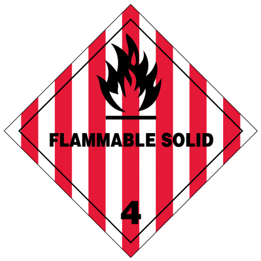 Flammable Solid Hazmat Labels