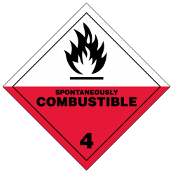 Spontaneously Combustible Hazmat Labels