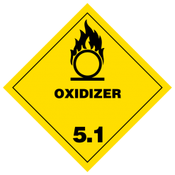 Oxidizer Hazmat Labels
