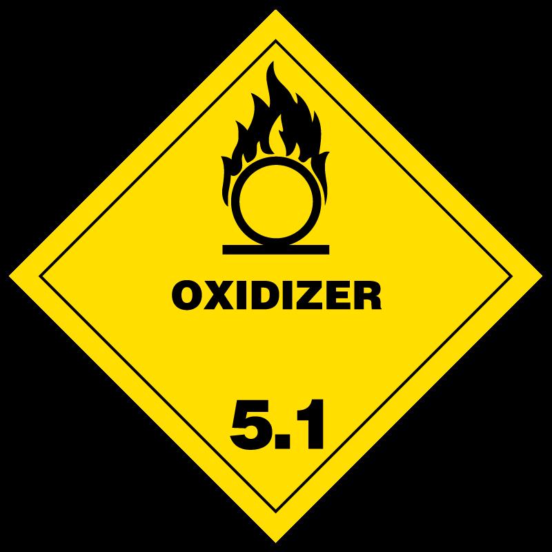 Oxidizer Hazmat Labels