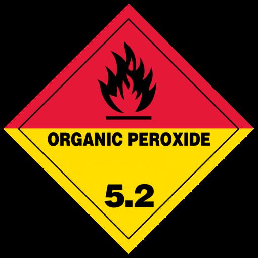 Organic Peroxide Hazmat Labels