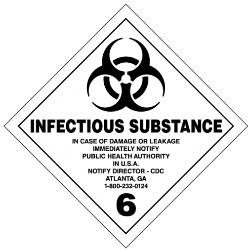 Infectious Substance Hazmat Labels