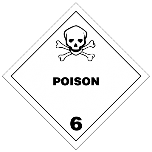 Poison Hazmat Labels