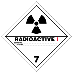 Radioactive I Hazmat Labels