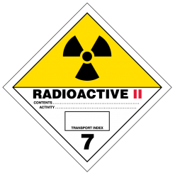 Radioactive II Hazmat Labels