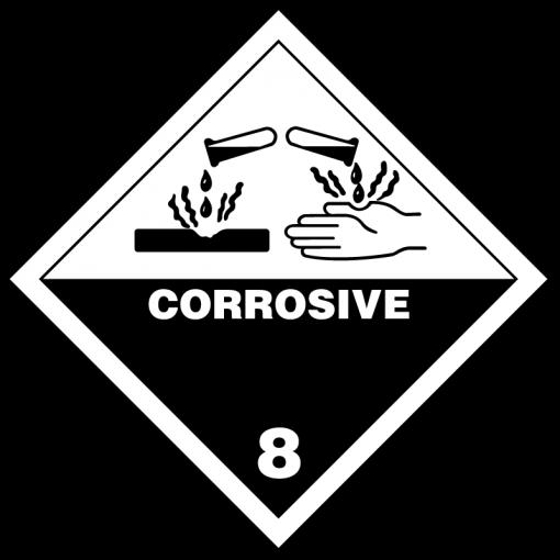 Corrosive Hazmat Labels