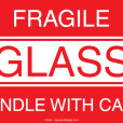 Fragile Glass Labels