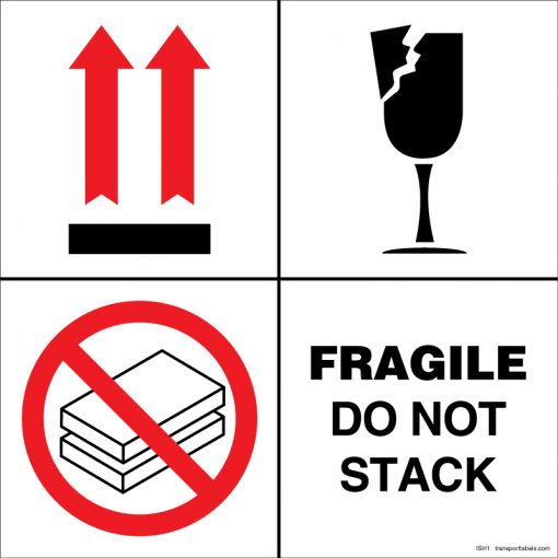 Fragile Do Not Stack labels