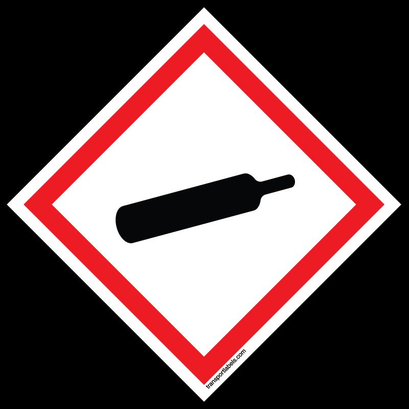 GHS Compressed Gas labels