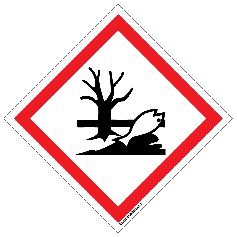 Ghs environmental toxicity labels transportlabelscom for Ghs label stickers