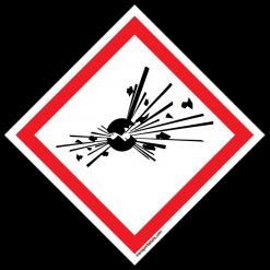 GHS Explosive labels
