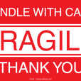 Handle With Care Fragile Labels