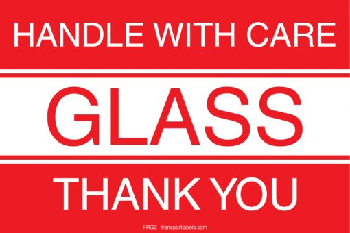 Handle With Care Glass Labels
