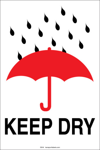 Keep Dry labels