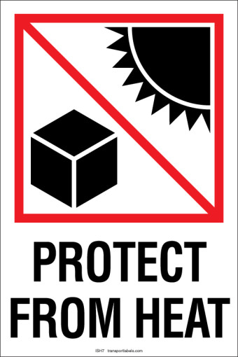 Protect From Heat labels